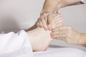 Lymfmassage av fot
